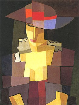 Pensierosa, de Emilio Pettoruti