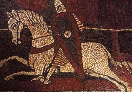 Mosaico románico de la abadía de Ganagobie, en Provenza