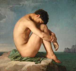 Hombre joven junto al mar, de Hippolyte Flandrin