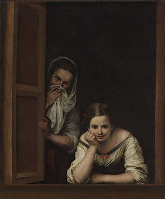 Dos mujeres en la ventana, de Bartolomé Esteban Murillo