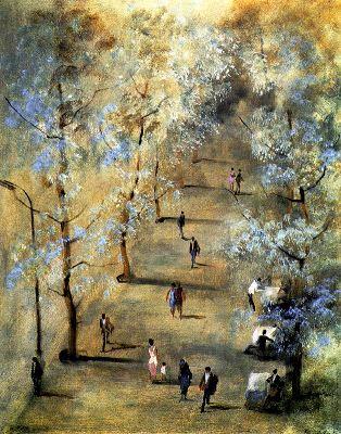 Paseo bajo los árboles, de Eduardo Vicente