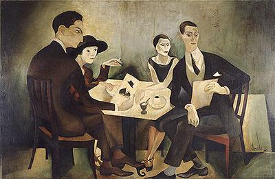 Autorretrato en grupo, de José de Almada Negreiros