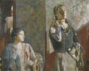 Mujeres en diálogo, de Antonio López García