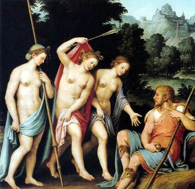 El juicio de Paris, de Juan de Juanes
