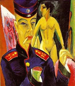 Autorretrato como soldado, de Ernst Ludwig Kirchner