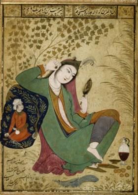Mujer con espejo, de Riza-i Abbasi