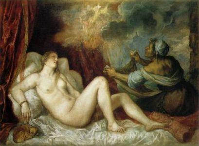 Dánae y la lluvia de oro, de Tiziano