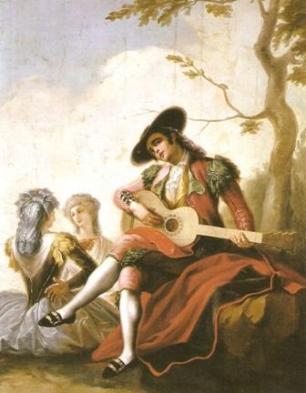 El majo de la guitarra, de Ramón Bayeu