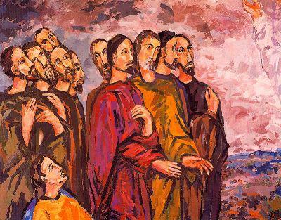 Mural del baptisterio de Mollet del Vallés, de Joan Abelló i Prat