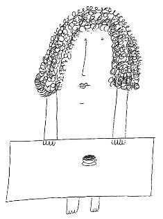 Un dibujo de Augusto Monterroso