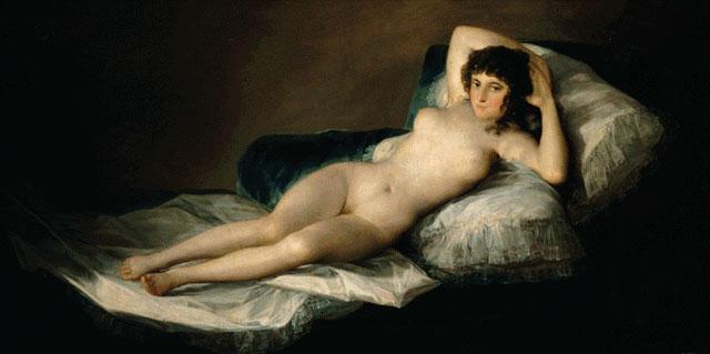 La maja desnuda, de Francisco de Goya