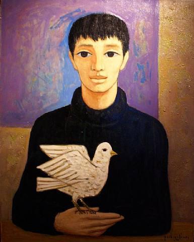 Muchacho con pájaro, de Paul Vanier Beaulieu