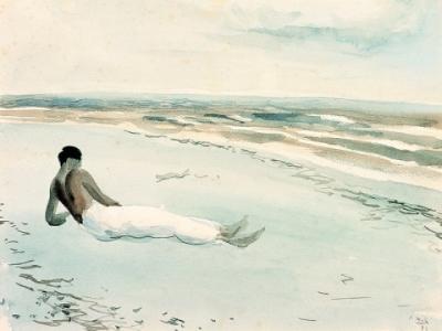 Luis Cernuda en la playa de Almería, de Ramón Gaya