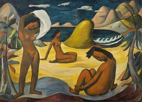 Niñas en la playa, de Ángel Botello Barros