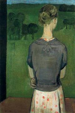 Muchacha de espaldas, de Carmen Laffón