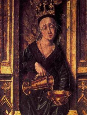Tabla de Santo Domingo de Silos (detalle), de Bartolomé Bermejo