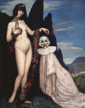 La mujer y el pelele, de Ángel Zárraga