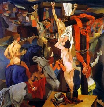 Crucifixión, de Renato Guttuso