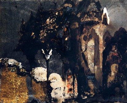 Castillo en paisaje fantástico, de Víctor Hugo