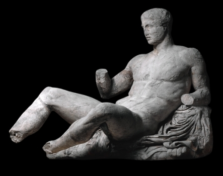 Figura de Dionisos, mármoles del Partenón, siglo V a. C.