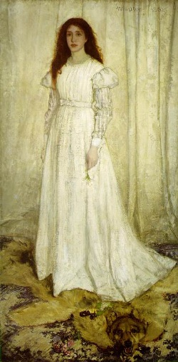 Joven de blanco, de James A. Whistler