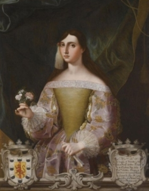 Retrato de Doña Josefa Benavides, Marquesa de Villena, de Alonso Miguel de Tovar