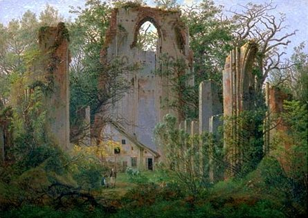Ruina de Eldena, de Caspar David Friedrich