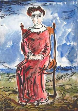 Mujer sentada, de Yosl Bergner