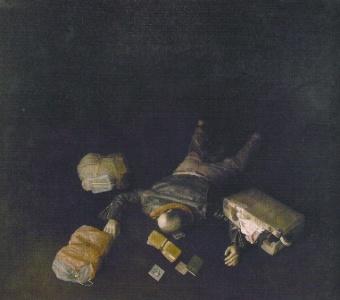 Emigrante muerto, por Cristóbal Toral