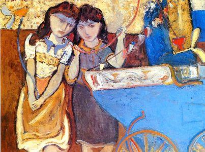 Niños con manicero, de Reinaldo Villaseñor