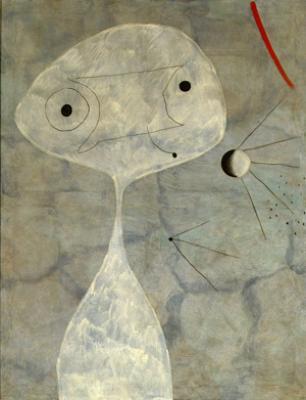 Hombre con pipa, de Joan Miró