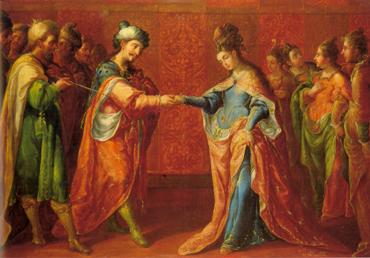 Los desposorios de José y Asenet, de Cristóbal de Villalpando