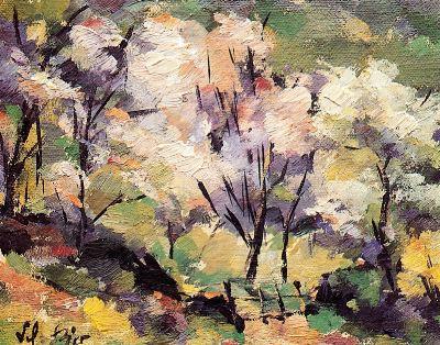 Árboles en flor, de Manuel del Río