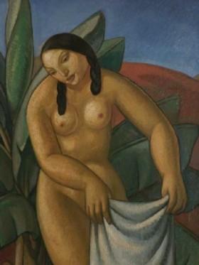 Mujeres junto al río (detalle), de Antonio Gattorno