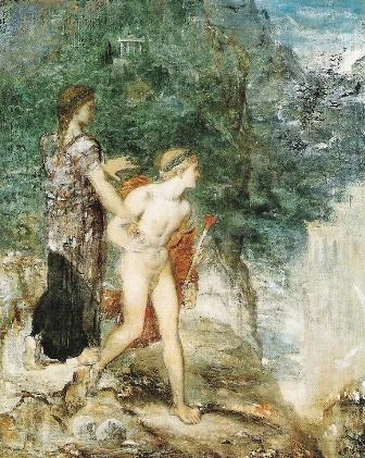 Ariadna y Teseo, de Gustave Moreau
