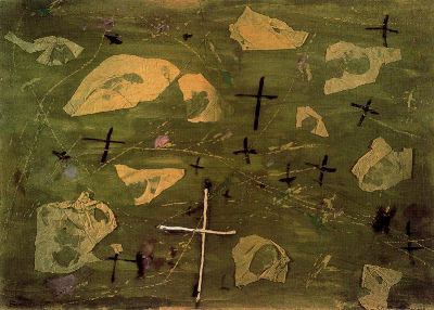 Collage de las cruces, de Antoni Tàpies