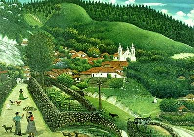 Vista de San Antonio de Oriente, de José Antonio Velásquez