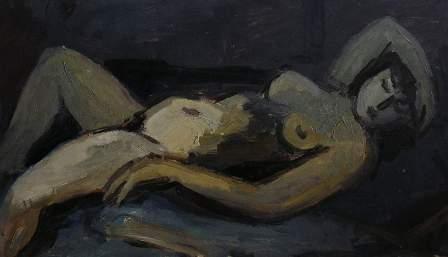 Mujer desnuda acostada, de Jaroslav ?erný