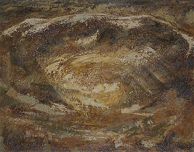 Paisaje con cráter, de Francisco Arias