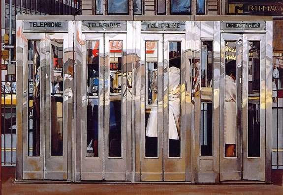 Cabinas telefónicas, de Richard Estes