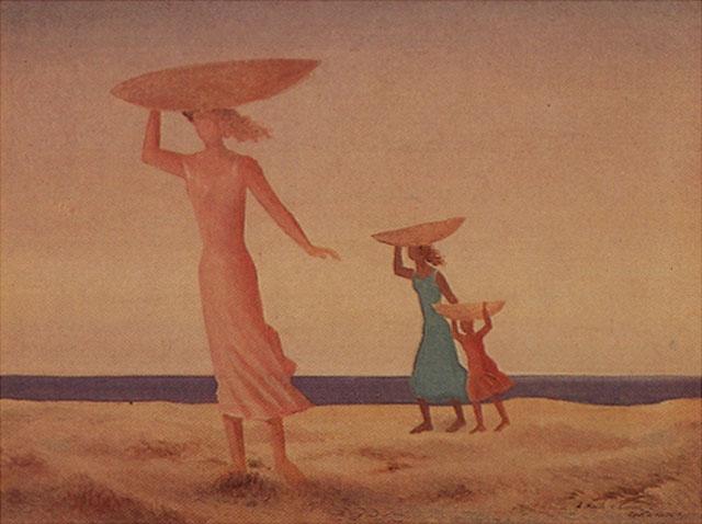 Mujeres en la playa, de Tomás Santa Rosa Júnio