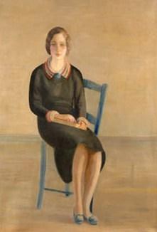 Retrato de mujer sentada, de Cristóbal Ruiz Pulido