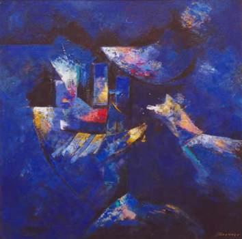 Abstracto azul, de Miguel Brenner