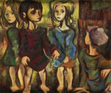Niños conversando, de Júlio Artur da Silva Pomar