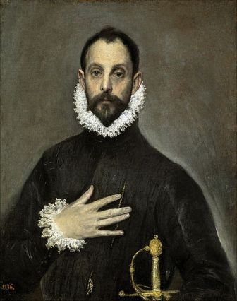 El caballero de la mano en el pecho, de El Greco