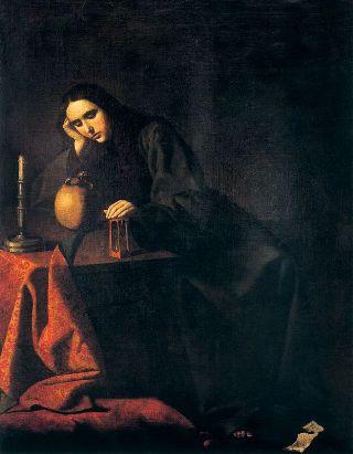 Magdalena penitente, de Francisco Zurbarán