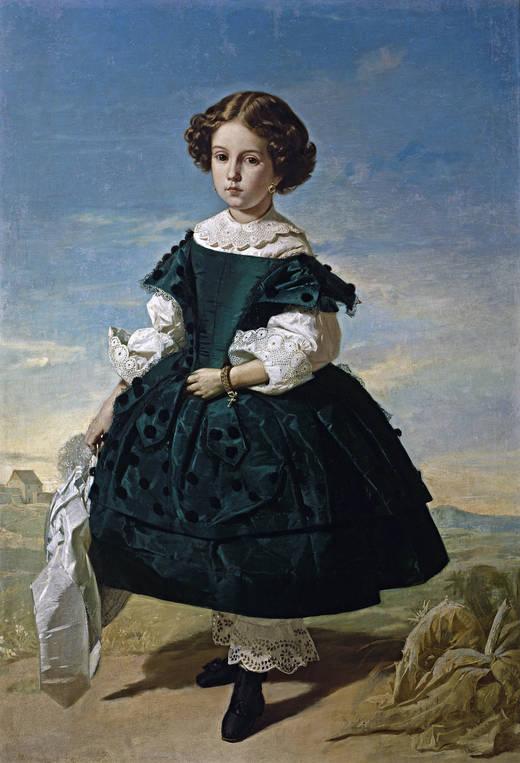 Retrato de niña, de Valeriano Domínguez Bécquer