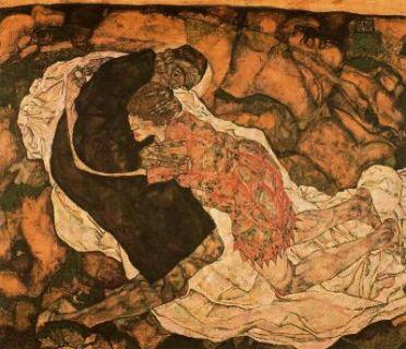La muerte y la muchacha, de Egon Schiele