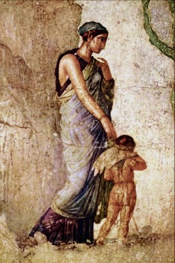 Eros castigado por Venus, fresco pompeyano