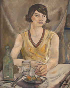 Figura femenina sentada, de José Fin